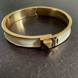 Kate Spade White & Gold Enamel Bracelet